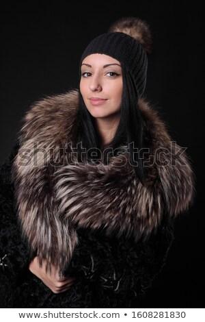 Kış kadın kürk sihir portre güzel bir kadın Stok fotoğraf © Victoria_Andreas