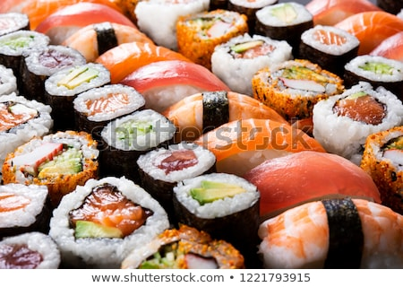 sushi · akşam · yemeği · Japon · pirinç · sebze - stok fotoğraf © M-studio