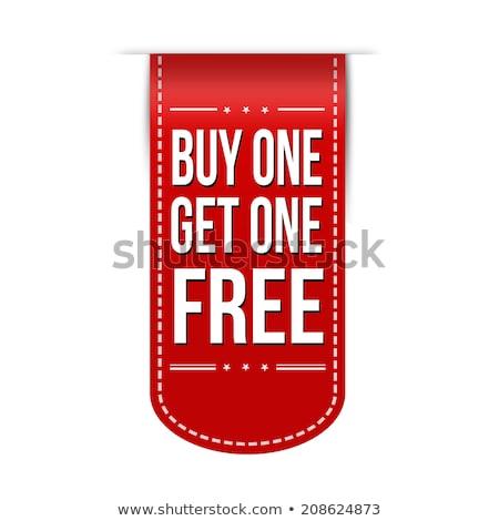 buy one get one free red star banner Stock photo © marinini