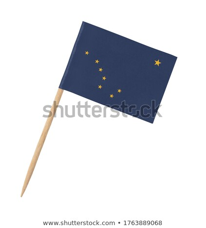 Miniature Flag of Alaska (Isolated) stock photo © bosphorus