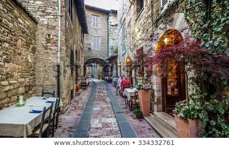 oude · straat · steen · huizen · huis · venster - stockfoto © Giashpee