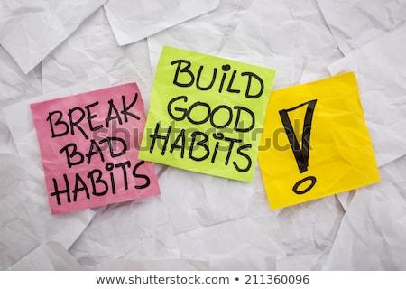 bad habits Stock photo © dolgachov