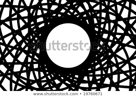 Abstract black metallic symbol with unique element Stock photo © MONARX3D