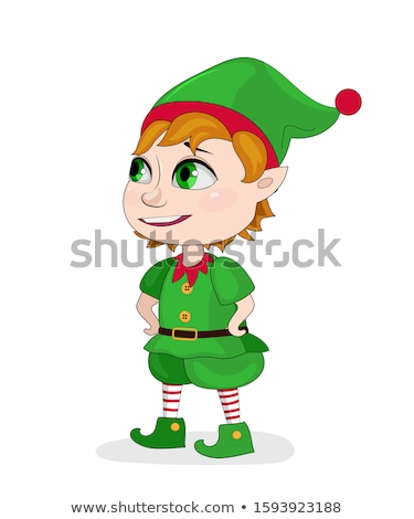 santas elf sitting on an edge stock photo © aliencat
