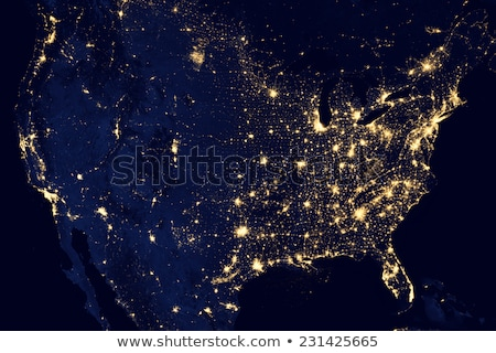 America's Lights at Night Stock photo © manaemedia