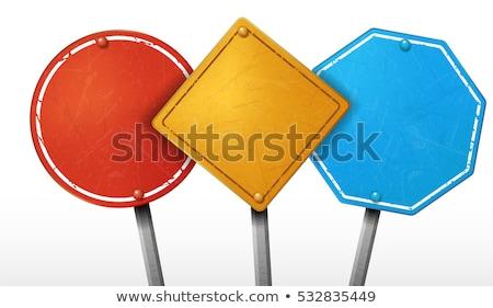 Verkeersbord woord marketing blauwe hemel hemel wolken Stockfoto © Quka