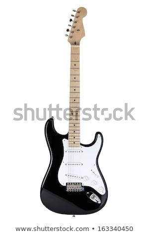 エレキギター 黒 白 音楽 木材 光 ストックフォト © SSilver