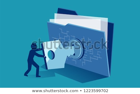 protected files stock photo © winterling