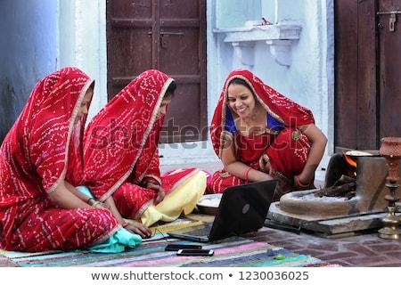 Indian villager woman Stock photo © ziprashantzi