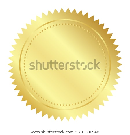 illustration of gold seal Stock photo © almir1968