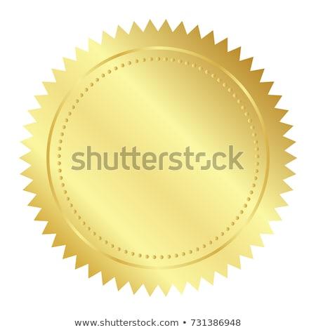 Stock fotó: Illustration Of Gold Seal