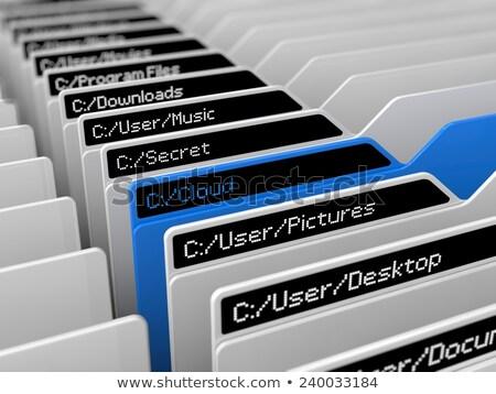 Foto stock: Ilustração · 3d · armazenamento · de · dados · grupo · servidores · servidor