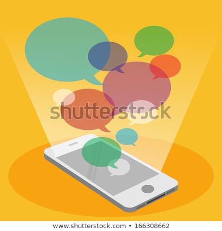 Ilustração 3d grupo telefone espaço monitor Foto stock © kolobsek