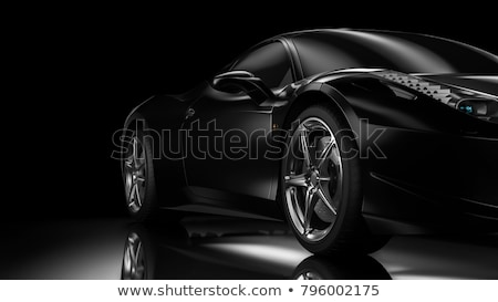 Noir voiture coutume mode design sport Photo stock © icefront