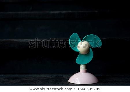 ミニ 電気 ファン オフィス 表 波 ストックフォト © JohnKasawa