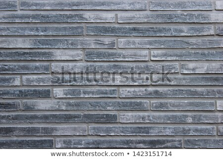 handgemaakt · bakstenen · grijs · outdoor - stockfoto © rhamm
