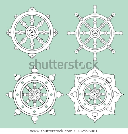 Wheel of Dharma- Symbol Buddhism Stock photo © shawlinmohd
