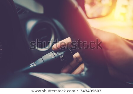 Stock photo: Turn signal of vintage car