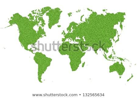 üveg · földgömb · Föld · fű · zöld · fű · mutat - stock fotó © jezper