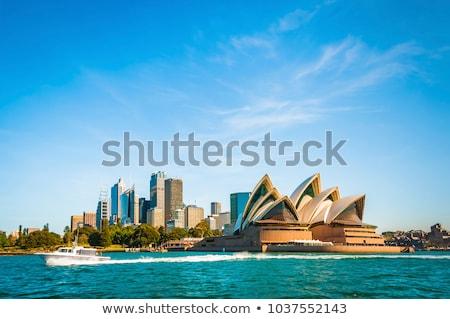Nuit cityscape Sydney Australie Skyline bâtiments Photo stock © iofoto