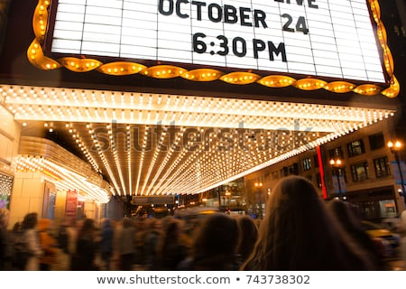 Movie Marqueee Ticket Stock photo © Lightsource