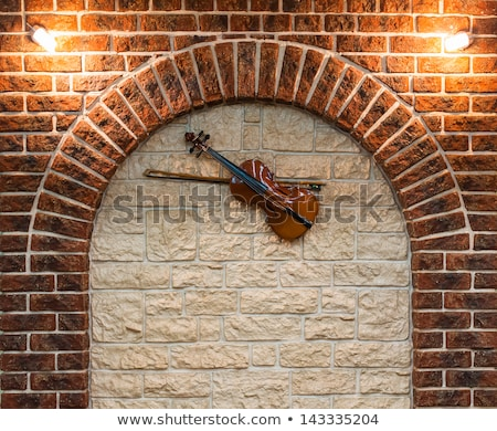 element of the interior stone arch with a violin stock photo © vlad_star