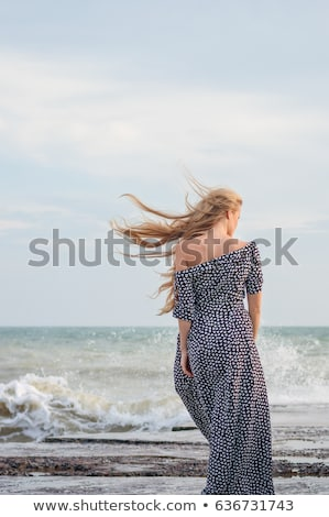 Beautiful model woman portrait with back light Stock photo © lunamarina