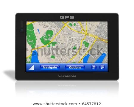 draagbaar · gps · navigatie · bestuurder · eenheid · windscherm - stockfoto © arenacreative