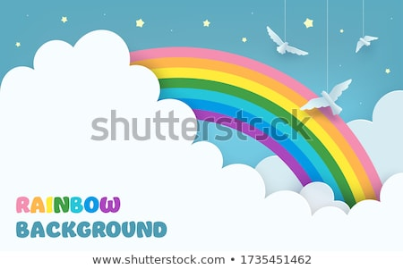 rainbow with blue sky stock photo © zzve