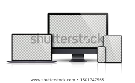 mobile phone on gray laptop Stock photo © Discovod