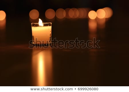 budizm · mum · ışık · iz · tapınak - stok fotoğraf © vichie81