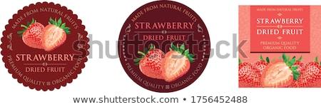 bonitinho · adesivos · frutas · vetor · conjunto - foto stock © kariiika