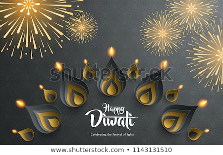 Diwali Beautiful rangoli element vector illustration  Stock photo © bharat
