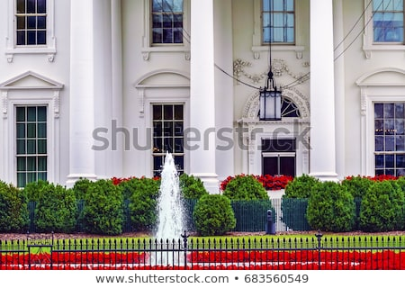 Casa blanca Washington Monument noche Pensilvania Washington DC bandera Foto stock © billperry