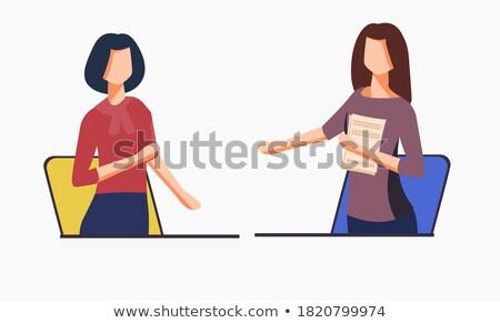 рукопожатием два человека человека женщину контроля изолированный Сток-фото © oly5