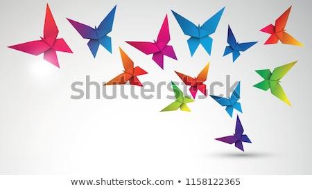 Kelebek origami örnek vektör kâğıt dizayn Stok fotoğraf © artag