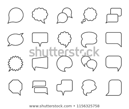 abstract speaker with speech ballons stock photo © burakowski