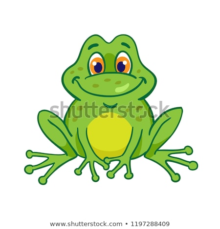 Cute cartoon frog character stock photo © irska