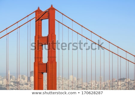 Famoso San Francisco Golden Gate Bridge tarde luz tarde Foto stock © meinzahn