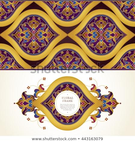 кружево орнамент место текста элегантный цветок Сток-фото © yurkina