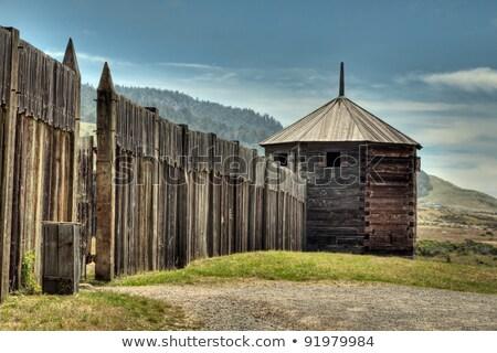 Fort Ross wooden walls  Stock photo © meinzahn