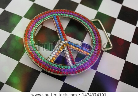 Rhinestone Peace Sign Stock photo © LAMeeks