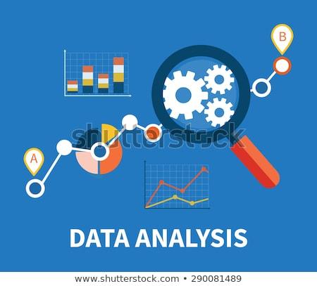 Data Analysis on Blue in Flat Design. Stock photo © tashatuvango