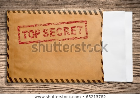 Confidential stmp on yellow envelope Stock photo © stevanovicigor