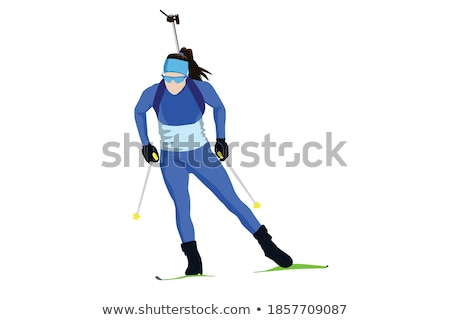 vruchten · groenten · vorm · skiër · skiën · berg - stockfoto © fisher
