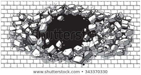 téglafal · végtelenített · ház · kő · kő · szín - stock fotó © nickylarson974
