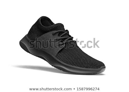 Caminhada preto isolado branco esportes Foto stock © anmalkov