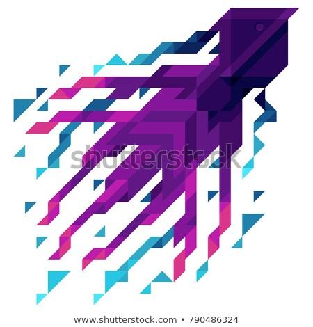 artistiek · vis · gekleurd · geïllustreerd · kaart · mode - stockfoto © heliburcka