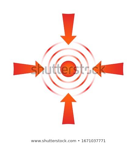 Pijn pijlen Rood target drie Stockfoto © tashatuvango