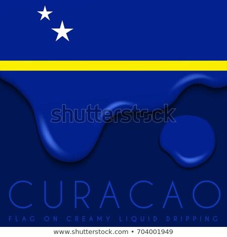 Curacao flag themes idea design Stock photo © kiddaikiddee